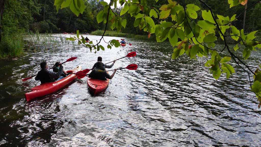 Spływ kajakowy szlakiem rzeki Krutyni - start w rezerwacie Krutynia