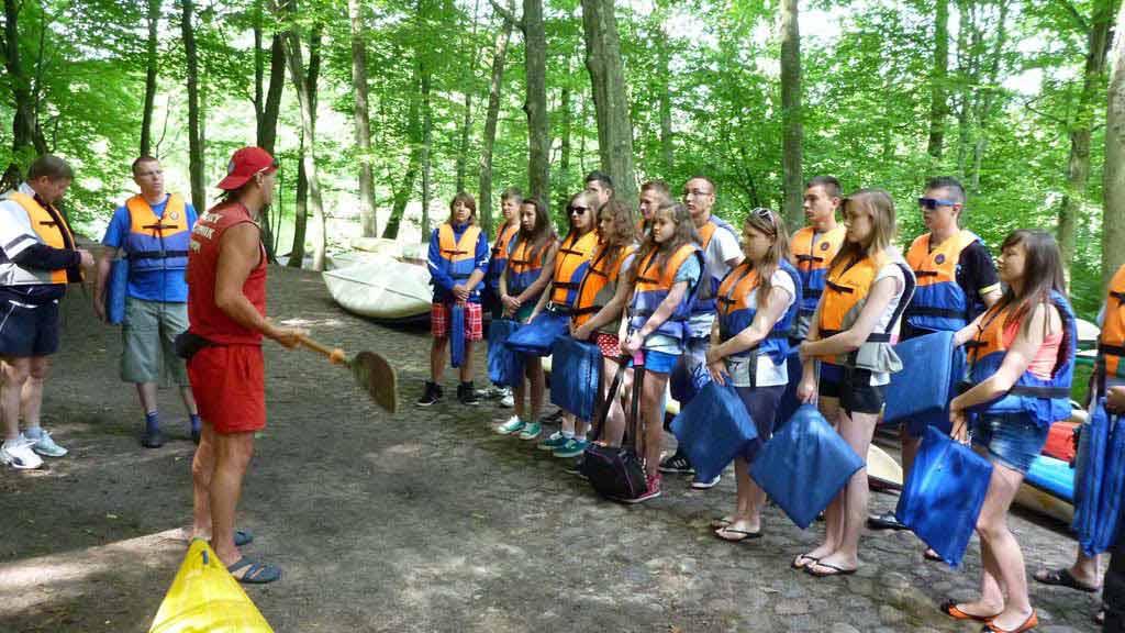 Spływy szkolne - szkolenie przed rozpoczęciem spływu