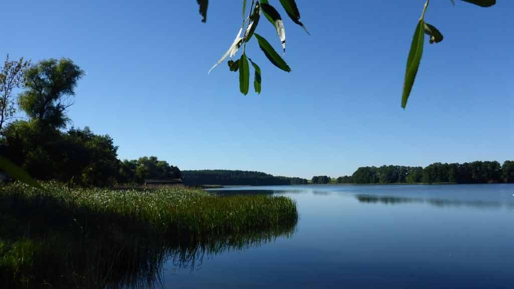 Spływ jednodniowy szlakiem Krutyni, trasa Sorkwity - Bieńki - widok na Jezioro Dłużec