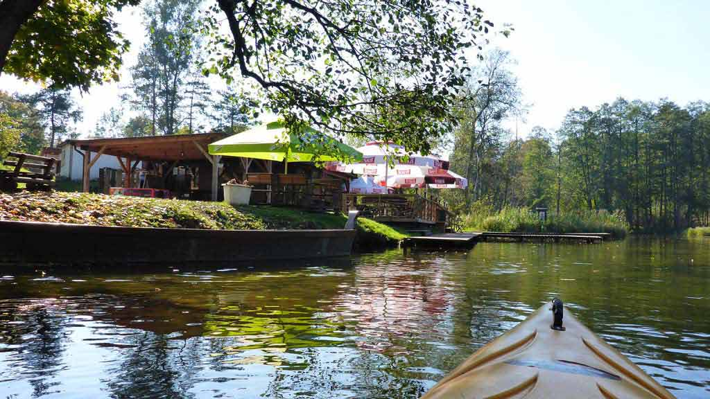 Spływ jednodniowy Krutynią na trasie Spychowo - Krutyń - zakończenie spływu w stanicy wodnej PTTK w Krutyni