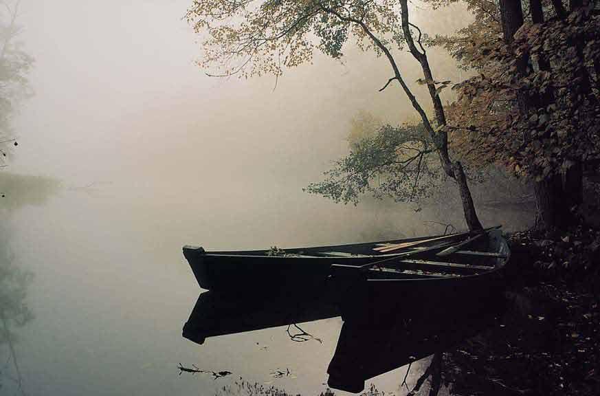 Łodzie na rzece Krutyni