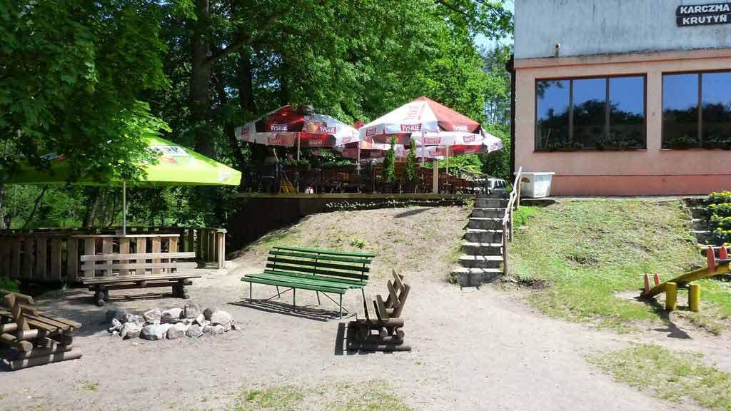 Stanica wodna PTTK w Krutyni - miejsce na ognisko