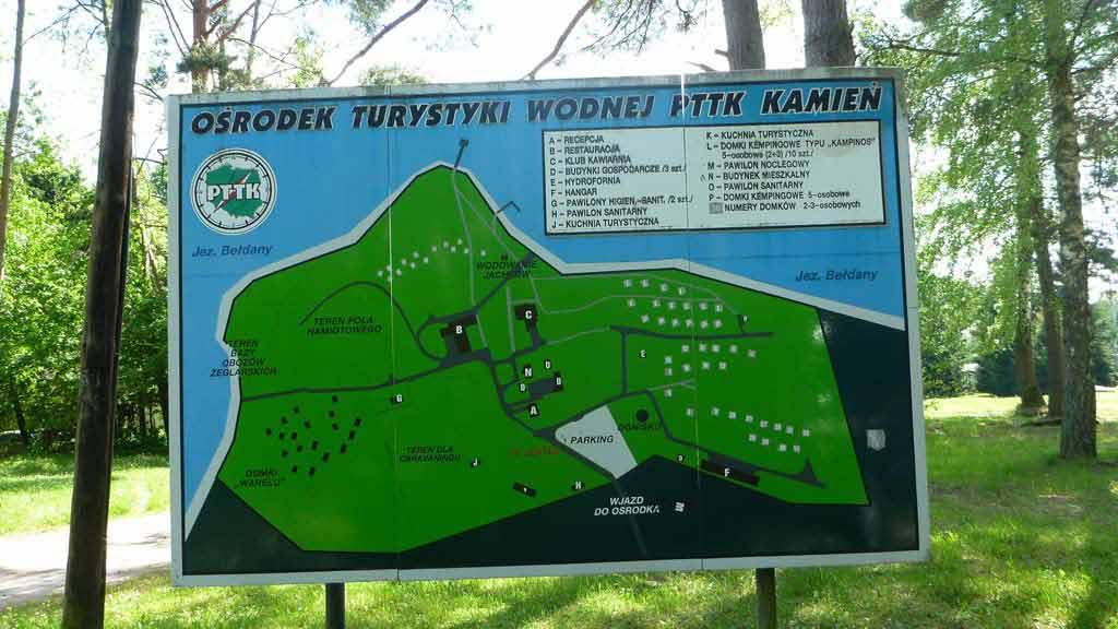 Ośrodek PTTK W Kamieniu - plan sytuacyjny