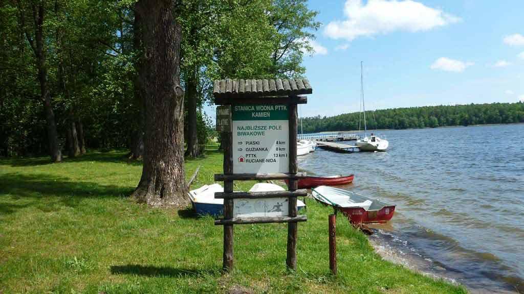 Szlak Krutyni - Ośrodek PTTK w Kamieniu - widok na jezioro Bełdany