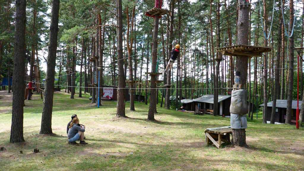Stanica wodna PTTK w Spychowie - park linowy