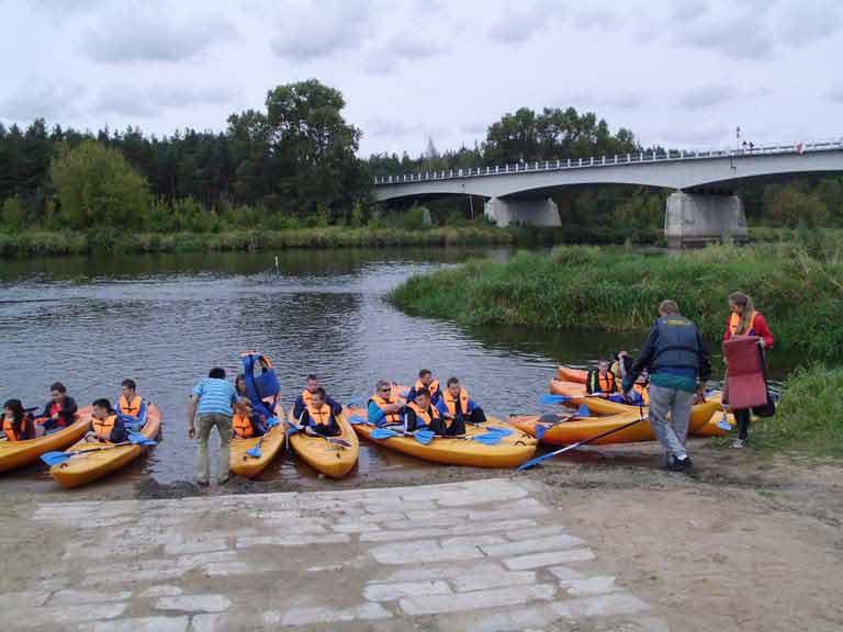 Szlak rzeki Pisy - zakończenie spływu w Nowogrodzie