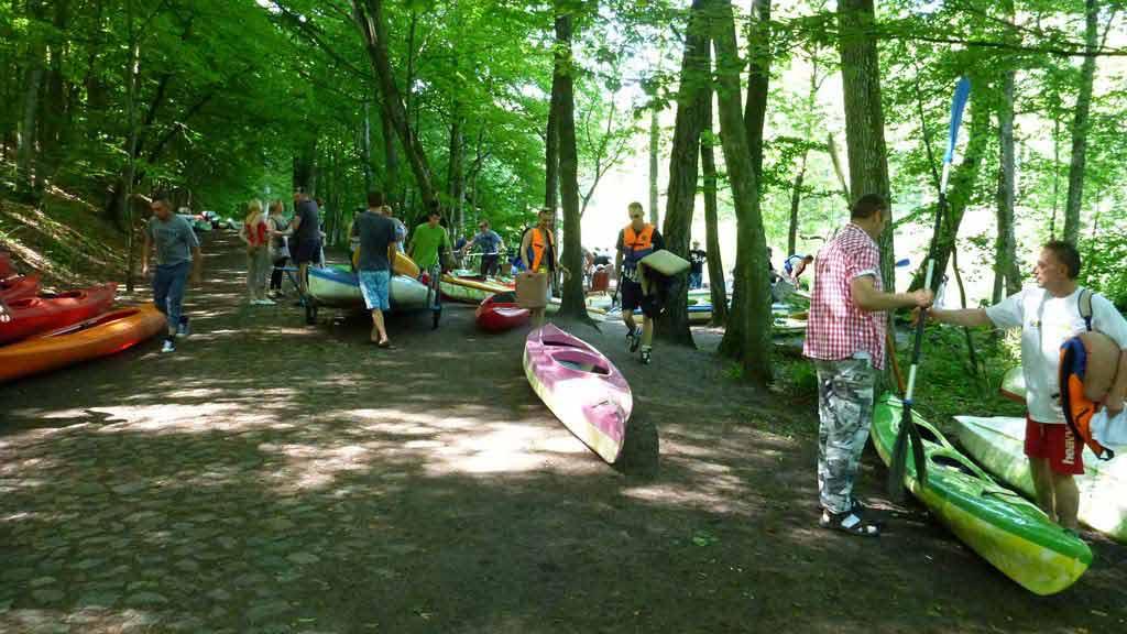 Spływ jednodniowy rzeką Krutynią - start przy jeziorze Krutyńskim