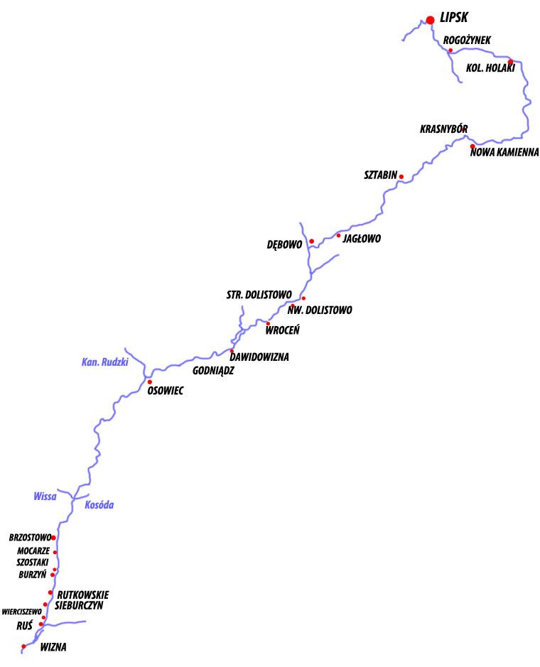 Szlak kajakowy Biebrza
