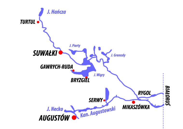 Szlak kajakowy Czarna Hańcza