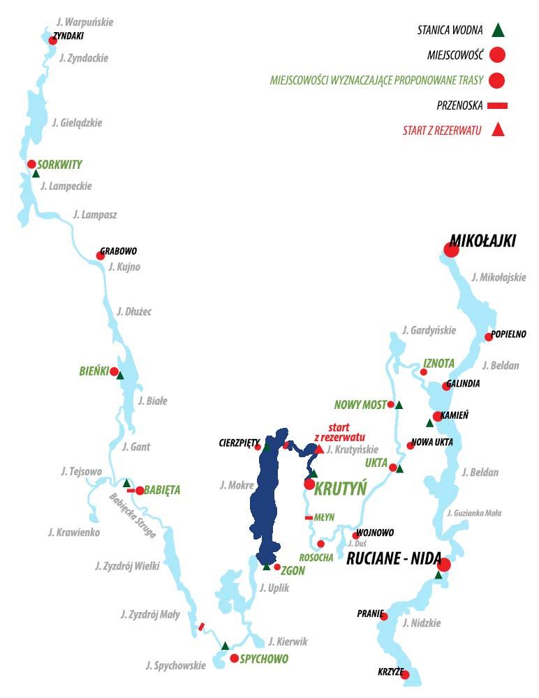 Spływ Krutynią - trasa Zgon - Krutyń