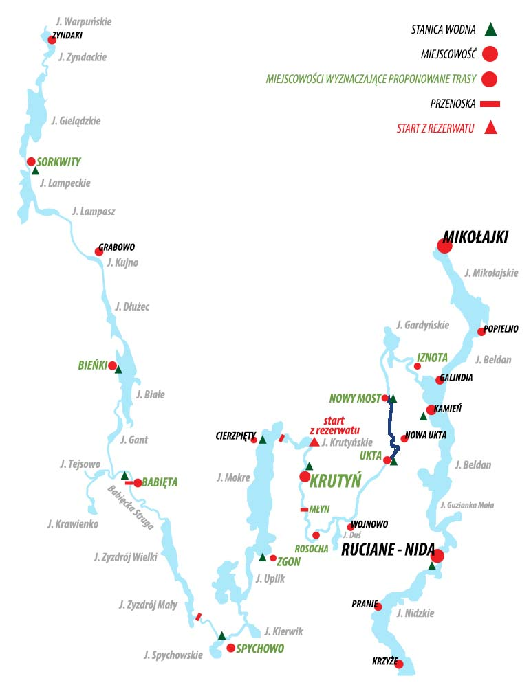 Spływ Krutynią - trasa Ukta – Nowy Most