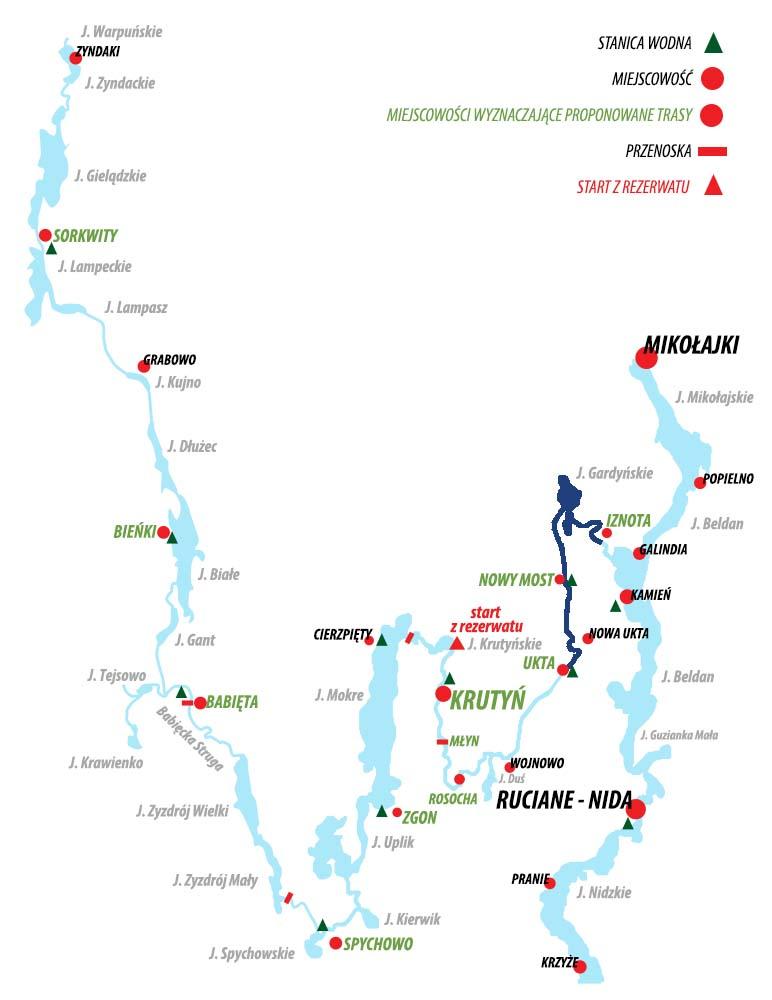 Spływ Krutynią - trasa Ukta – Iznota