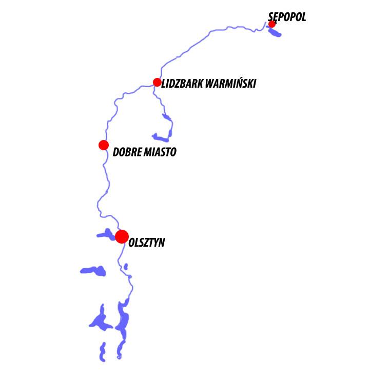 Szlak kajakowy Łyna