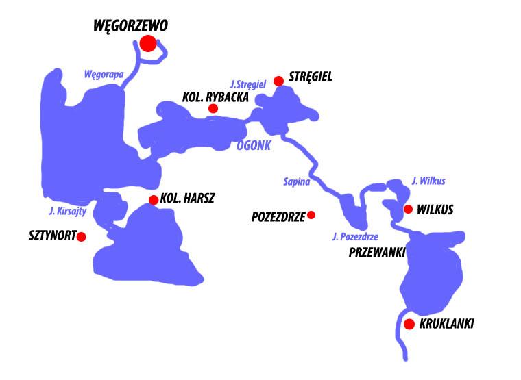 Mapa szlaku Sapina